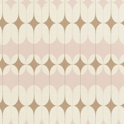 Rasch Wallpaper | Onszelf Retro Blush Pink/Gold | 531114