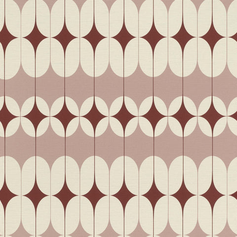 Rasch Wallpaper | Onszelf Retro Rust/Blush | 531138