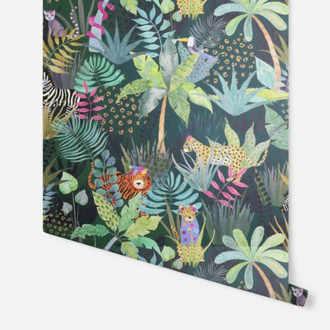 Hidden Jungle Emerald | Arthouse Kids Wallpaper | 907604