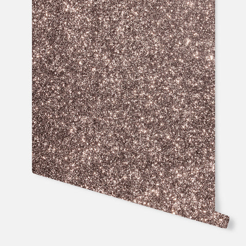 Sequin Sparkle Rose Gold Wallpaper | Arthouse Glitters Collection