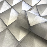 Belgravia Vinyl Wallpaper | Callisto Silver Grey | GB6004