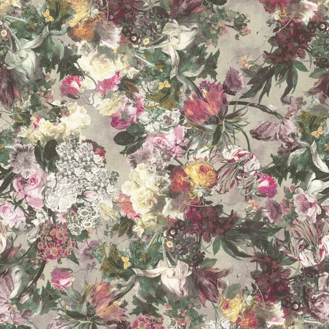 Rasch Wallpaper | Passepartout Floral Pink/Grey | 605631