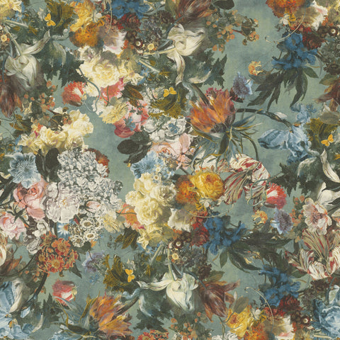 Rasch Wallpaper | Passepartout Floral Teal | 605655