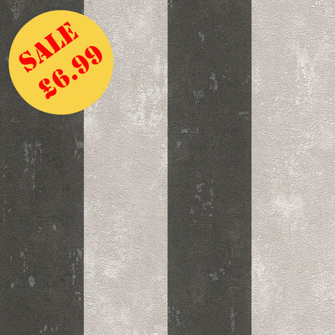 Lucera Black Stripe Wallpaper | SALE Rasch | WonderWall