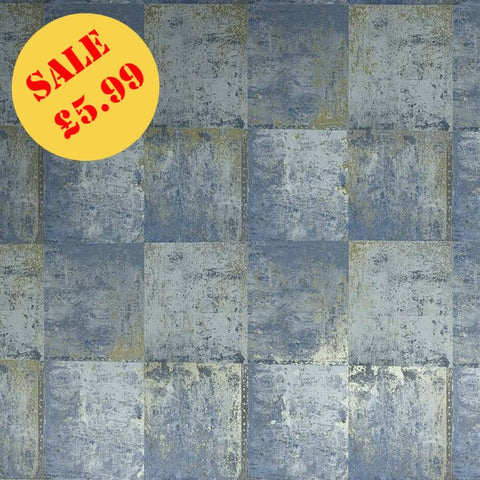 SALE Holden Wallpaper | Metal Panel Blue | 65162