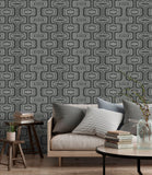 Belgravia Seriano Wallpaper | SanRemo Retro Charcoal | GB6517