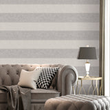 Belgravia Decor Wallpaper |  San Remo Stripe Grey/Stone | GB6525