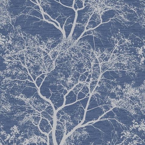 Holden Statement Wallpaper | Whispering Trees Navy | 64502