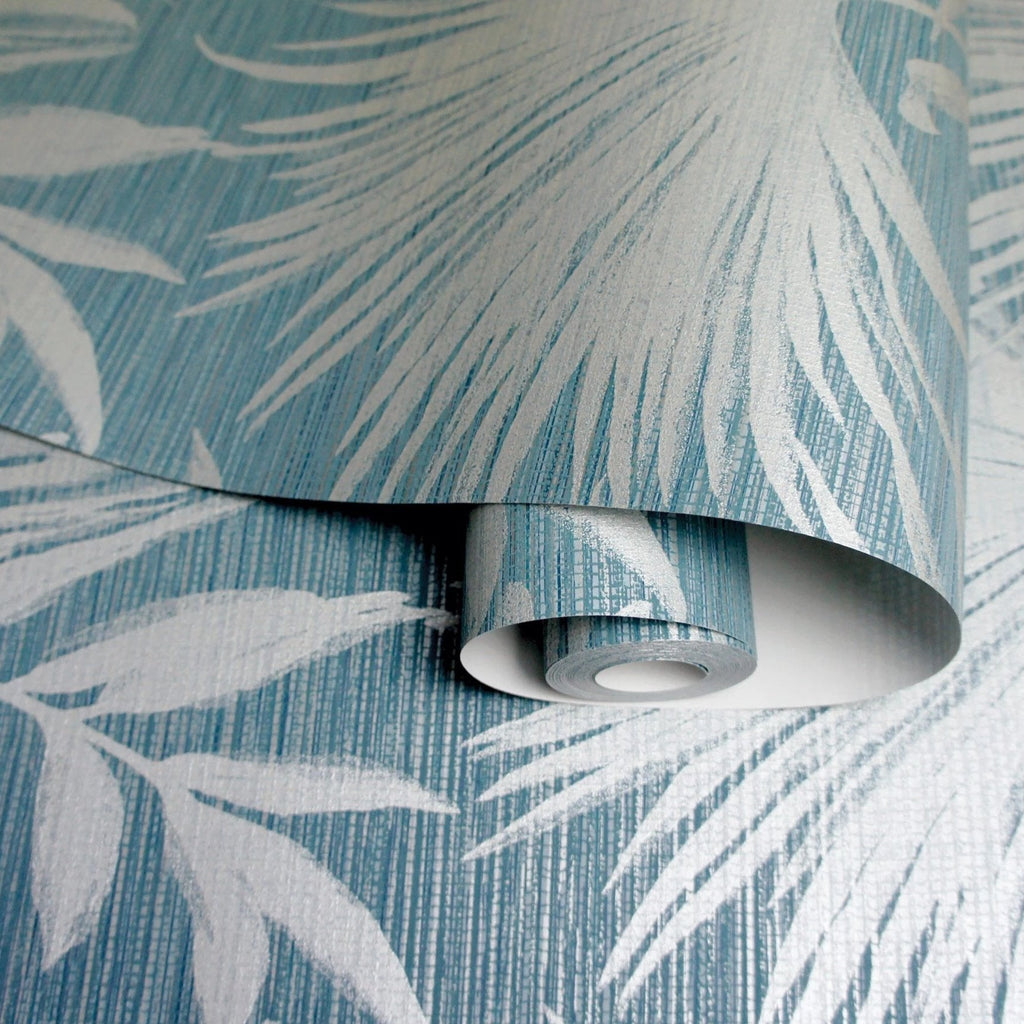 Holden Decor Wallpaper | Bambara Leaf Teal | 65533