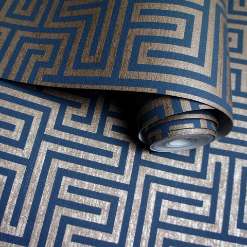 Holden Wallpaper | Labyrinth Navy | 65590