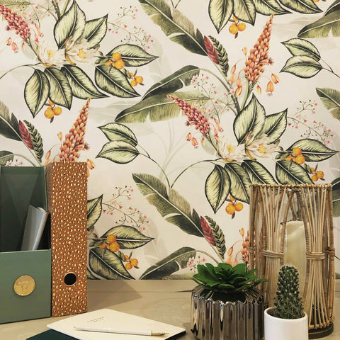 Paradise Garden Multi/Grey Wallpaper | Belgravia 6602