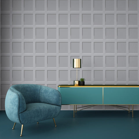 Heritage Wood Panel Grey | Debona Wallpaper | 6741