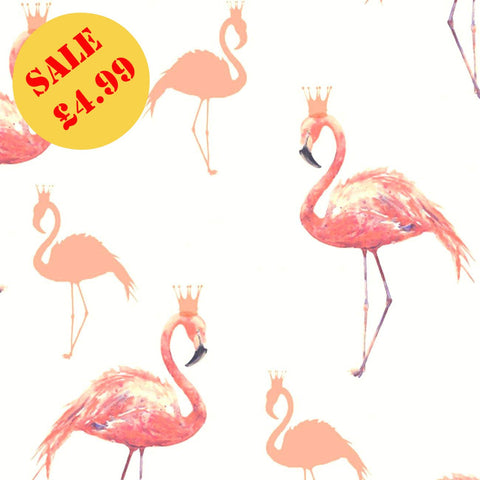 SALE Arthouse Wallpaper | Queen Flamingo Coral | 674700