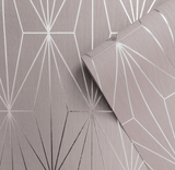 Muriva Couture Wallpaper | Kayla Blush & Silver | 703012