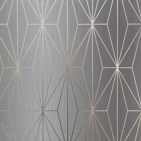 Muriva Couture Wallpaper | Kayla Grey & Gunmetal | 703014