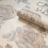 Amara Rose Natural Wallpaper | Belgravia Decor GB7363