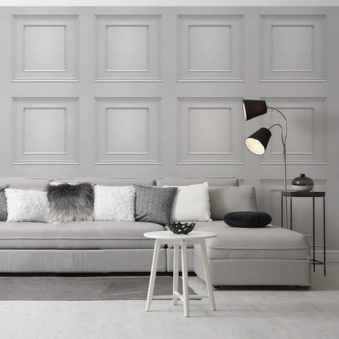 Amara Panel Soft Silver | Belgravia Decor Wallpaper | GB7376