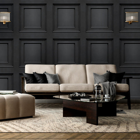 Amara Panel Black | Belgravia Decor Wallpaper | GB7378