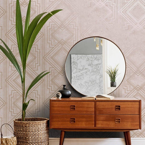 Delano Pink/Rose Gold | Holden Decor Wallpaper | 75940
