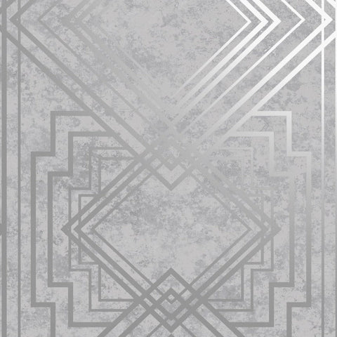 Delano Grey/Silver | Holden Decor Wallpaper | 75943