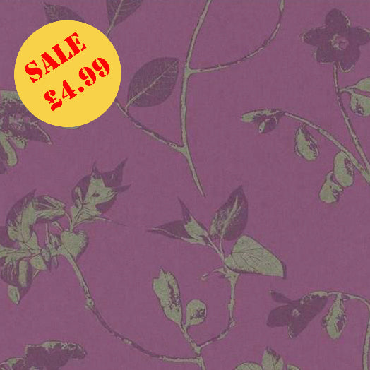 SALE Rasch Wallpaper | Tendresse Branch Plum | 799149