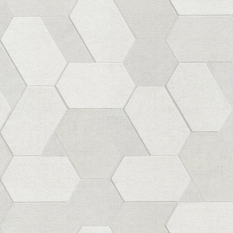 Fine Decor Zambaiti Wallpaper | Matrix Polygon Silver | C88609