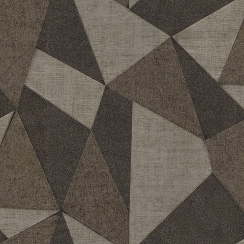 Fine Decor & Zambaiti Wallpaper | Matrix Prism Gold/Coffee | C88645