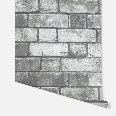 Brickwork Dark Grey | Arthouse Wallpaper | 886500