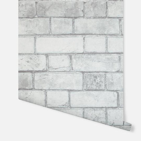 Brickwork White/Grey | Arthouse Wallpaper | 886501