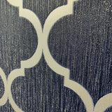 Debona Wallpaper | Crystal Trellis Navy Blue/Silver | 8894