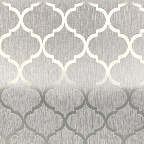 Debona Wallpaper | Crystal Trellis Grey/Silver | 8897