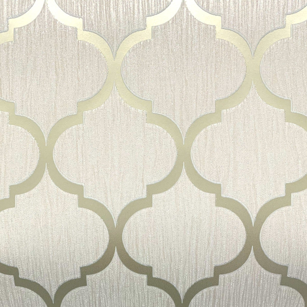 Debona Wallpaper | Crystal Trellis Ivory/Gold | 8898