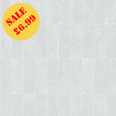 SALE Holden Tile Wallpaper | Igneous Tile White/Grey | 89281