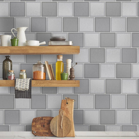 Glass Tile Grey | Holden Tile Wallpaper | 89350