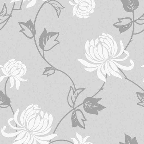 WonderWall Exclusive Wallpaper | Riva Silver/White | 902801