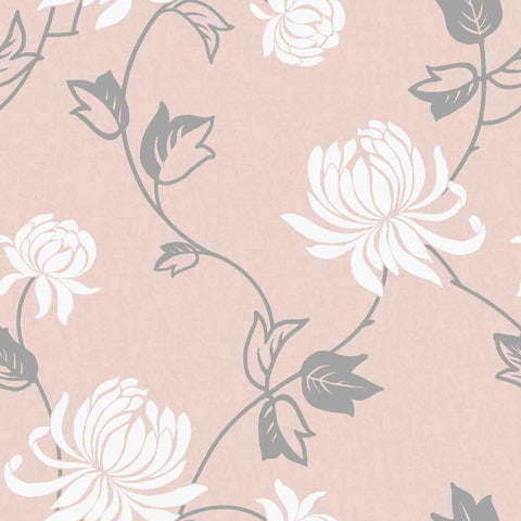 WonderWall Exclusive Wallpaper | Riva Blush Pink/Silver | 902804