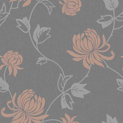 WonderWall Exclusive Wallpaper | Riva Rose Gold/Charcoal | 902805