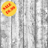 SALE Arthouse Wallpaper | Foil Wood Mono/Silver | 903807