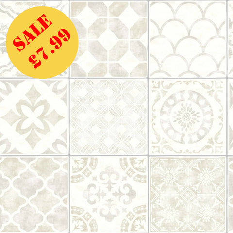 SALE Arthouse Wallpaper | Diamond Tile Taupe | 906003