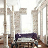 AS Creation Wallpaper - New England Brick Red Whitewash - 9078-13