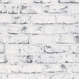 AS Creation Wallpaper - New England White Silver Brick - 9078-37