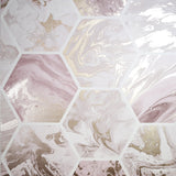 Marbled Hex Pink/Rose Gold | Arthouse Wallpaper | 908506