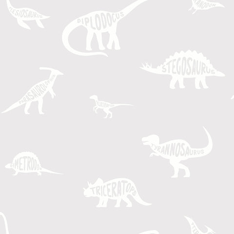 Kids Holden Wallpaper | Dino Dictionary Grey | 90900