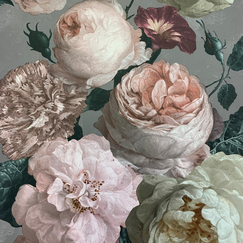 Highgrove Floral Warm Grey | Arthouse Wallpaper | 909302