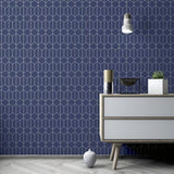 Linear Geo Navy | Arthouse Wallpaper | 909702
