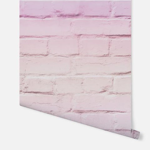 Ombre Brick Pastel Pink | Arthouse Kids Wallpaper | 909706