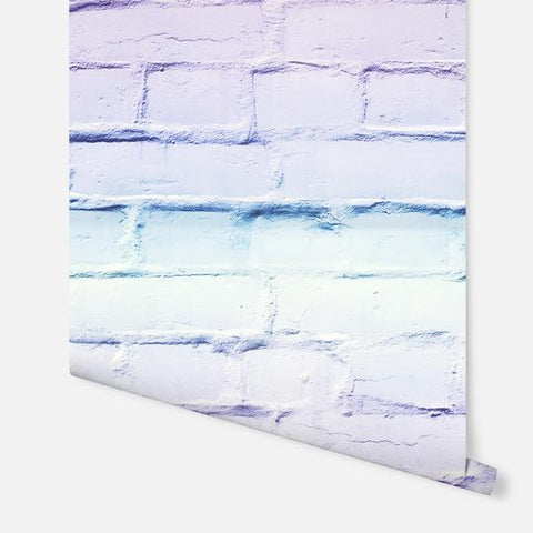 Ombre Brick Lilac/Mint | Arthouse Kids Wallpaper | 909707