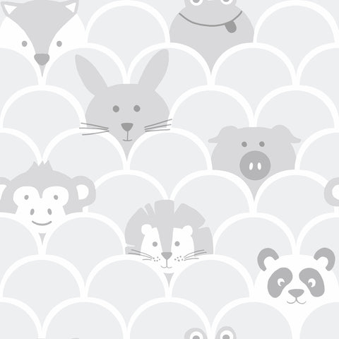 Kids Holden Wallpaper | Peek A Boo Grey | 91030