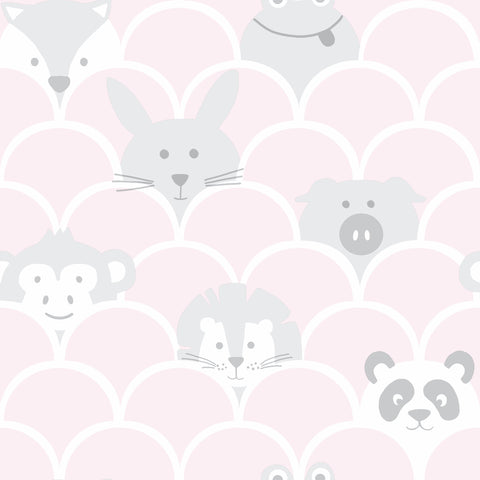 Kids Holden Wallpaper | Peek A Boo Pink | 91031