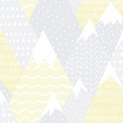 Kids Holden Wallpaper | Mountains Yellow | 91050